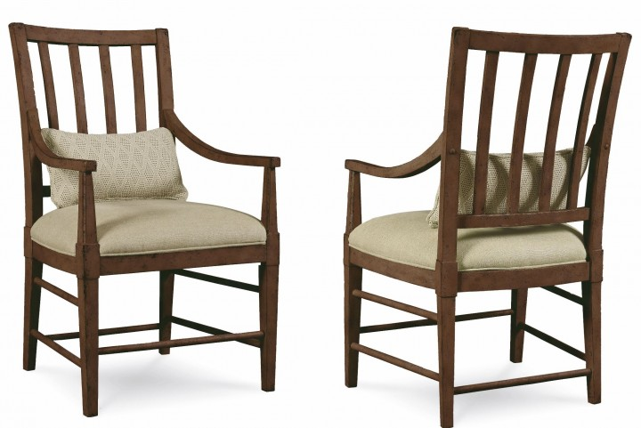 Echo Park Huston's Arroyo Slat Back Arm Chair Set of 2