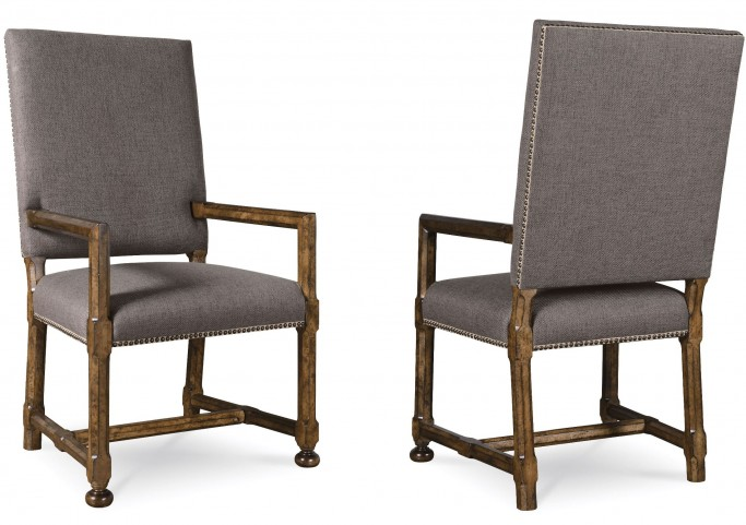 Echo Park Huston's Arroyo Upholstered Back Arm Chair Set of 2