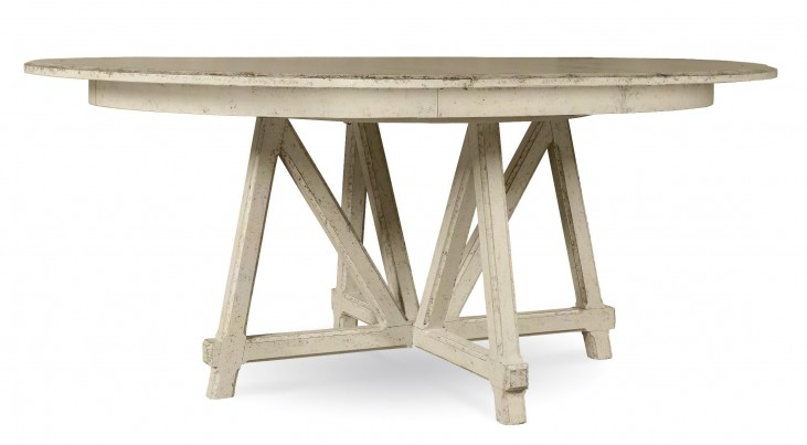 Echo Park Aged Canvas Round Extendable Dining Table