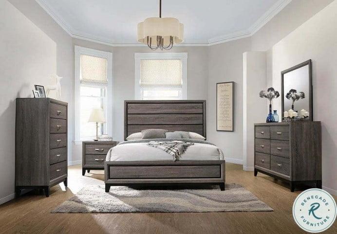 Watson Gray Oak And Black Platform Bedroom Set