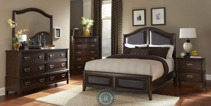 Beaux Upholstered Panel Bedroom Set