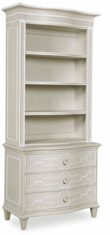 Chateaux Grey Bedside Chest with Hutch