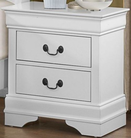 Mayville Burnished White Nightstand