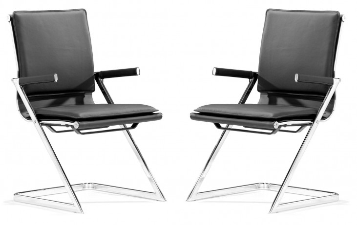 Lider Plus Conference Chair Black Set of 2