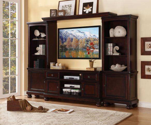 Cumberland Medium Brown Entertainment Wall