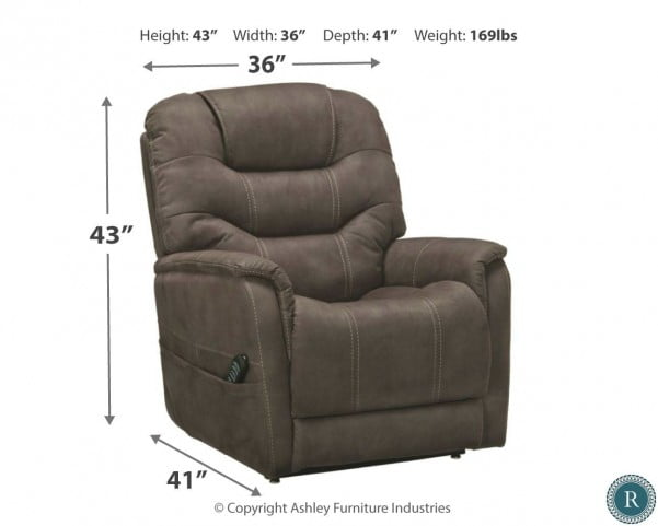 Excellent Ballister Gunmetal Power Lift Recliner Interior Design Ideas Inesswwsoteloinfo
