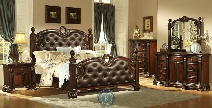 Orleans Upholstered Poster Bedroom Set