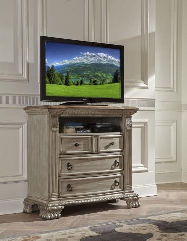 Orleans II White Wash Tv Chest