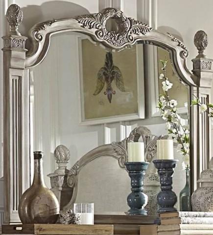 Orleans II White Wash Mirror