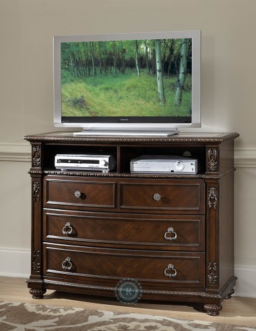 Hillcrest Manor TV Chest with Marble Inset