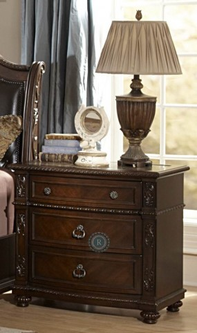 Hillcrest Manor Nightstand With Marble Inset