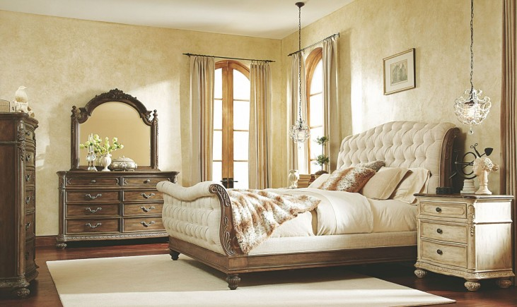 Jessica Mcclintock Boutique Baroque Sleigh Bedroom Set