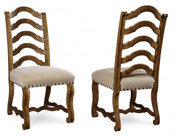 Collection One Harvest Burnished Pine Side Chair Set of 2