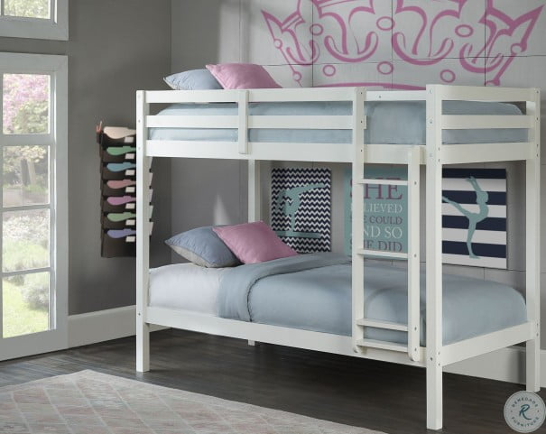 Caspain White Twin Over Twin Bunk Bed From Ne Kids Coleman Furniture