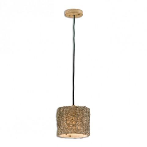 Knotted Rattan Light Mini Drum Pendant