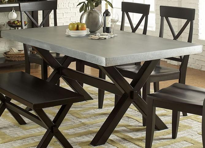Keaton II Charcoal Trestle Dining Table