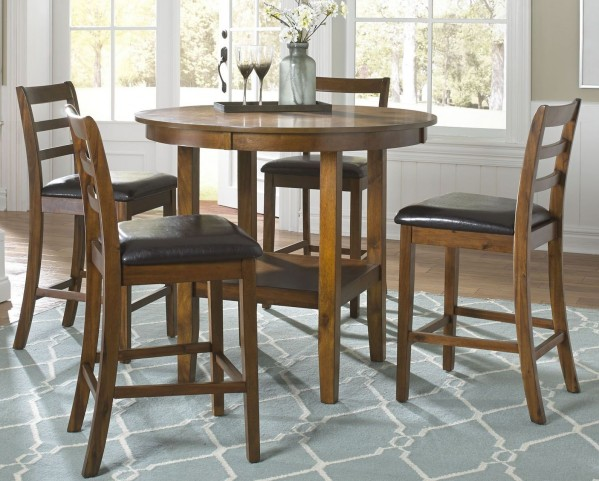 Tucson Dining II Oak 5 Piece Pub Table Set