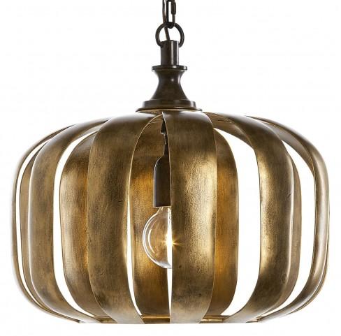 Zucca 1 Light Antique Gold Pendant