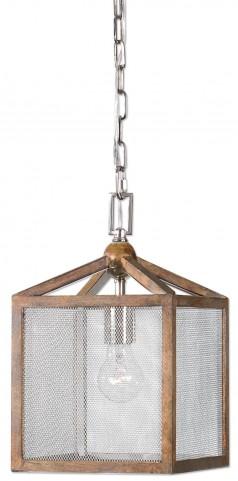 Nashua Wooden 1 Light Mini Pendant
