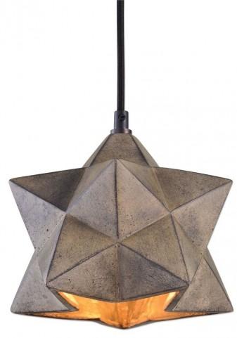 Rocher 1 Light Geometric Pendant