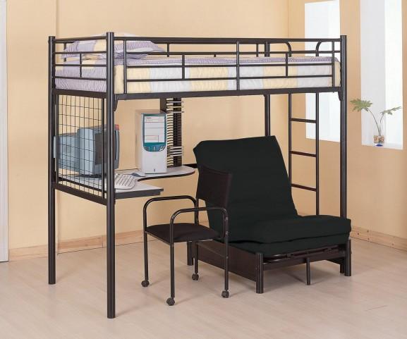 Bunks Black Workstation Loft Bed
