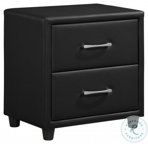 Lorenzi Black Nightstand