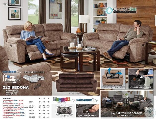 Fantastic Sedona Smoke Power Reclining Sofa Dailytribune Chair Design For Home Dailytribuneorg