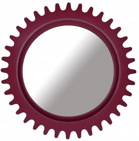Epicenters Williamsburg Paint Red Round Mirror