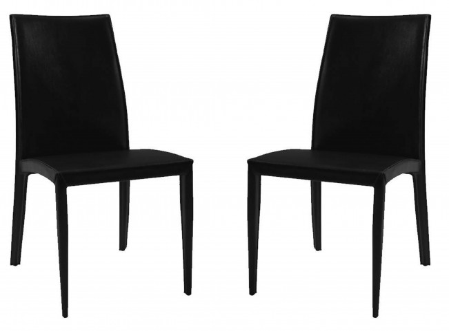 224 Black Side Chair Set of 2