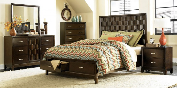 Darien Panel Storage Bedroom Set