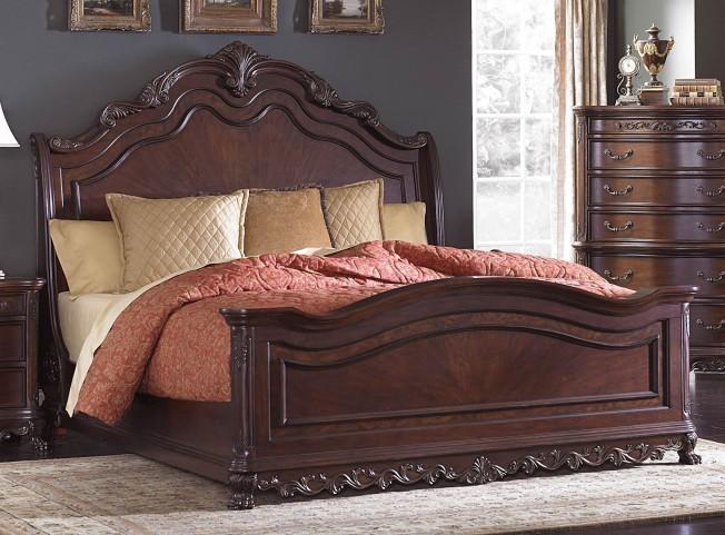 Deryn Park Cherry Queen Sleigh Bed