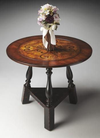Connoisseur's Black & Tan Foyer Table