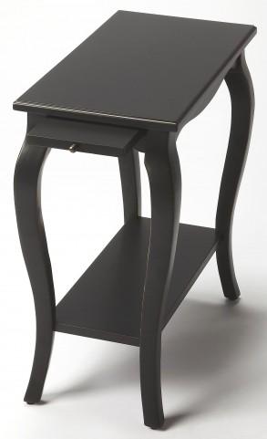 Sabrina Black Licorice Chairside Table