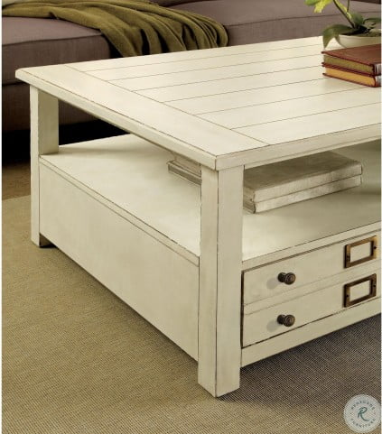Sullivan Country White Cocktail Table