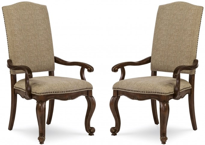 La Viera Upholstered Arm Chair Set of 2