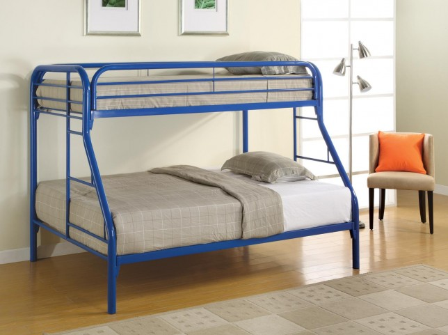 Fordham Blue Twin Over Full Bunk Bed