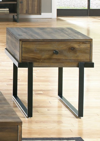 Paxton Wire Brushed Bronze End Table
