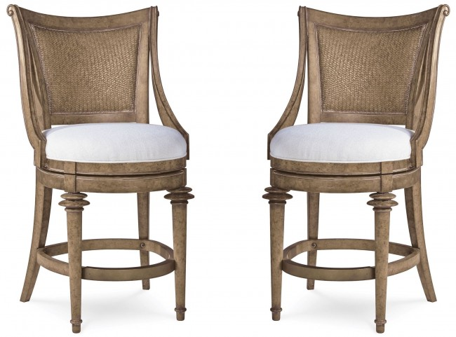 Pavilion Woven Back High Dining Chair Set of 2