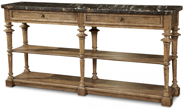 Pavilion Rustic Pine 2 Drawer Console Table