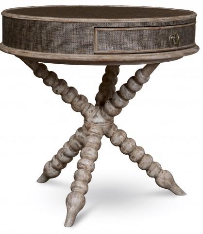 Pavilion Bisque Round Accent Table