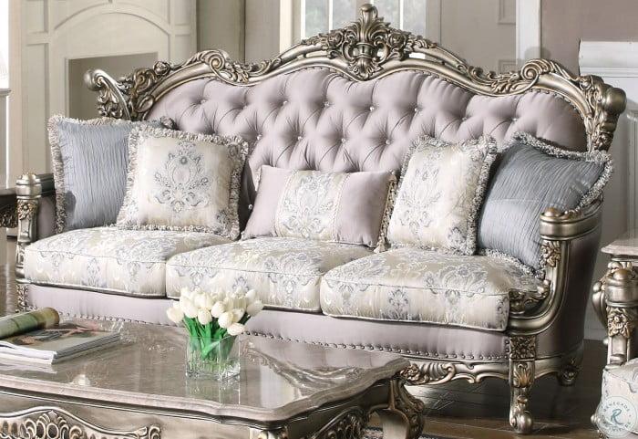 Ophelia Antique Gold Sofa