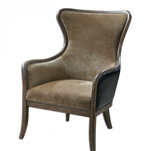 Snowden Tan Wing Chair