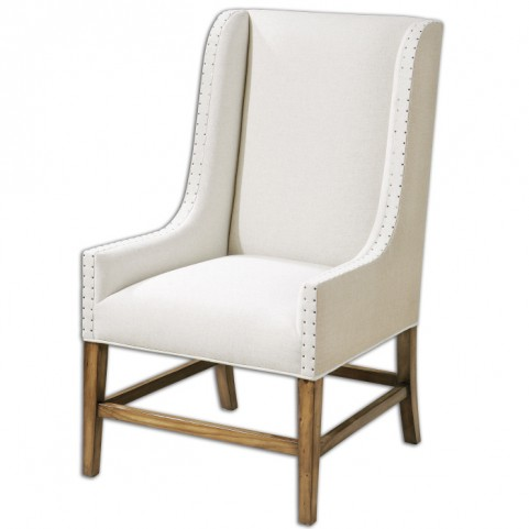 Dalma Linen Wing Chair