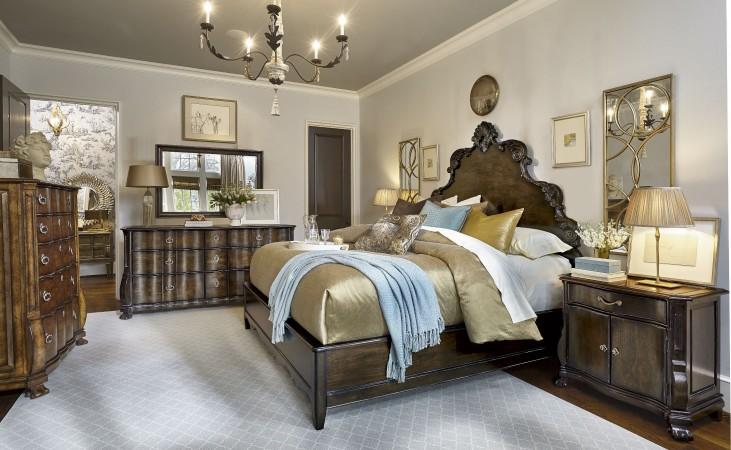 Continental Vintage Melange Panel Bedroom Set