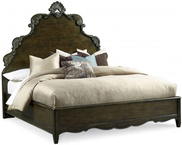 Continental Vintage Melang King Panel Bed