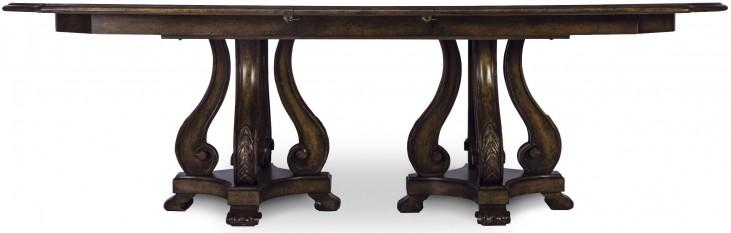 Continental Vintage Melange Double Pedestal Dining Table