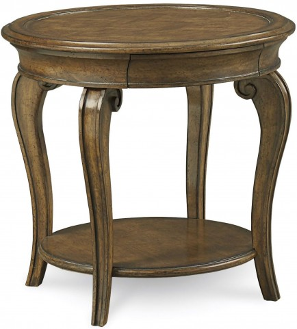 Continental Weathered Nutmeg Round Lamp Table