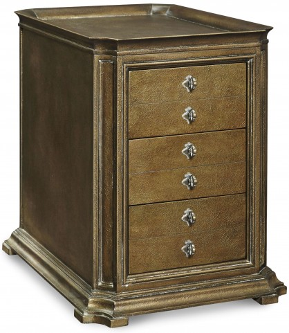 Continental Crackle Bronze Storage End Table