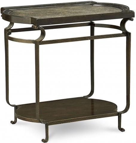 Continental Vintage Melange Rectangular Glazed End Table