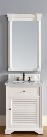 "Savannah 26"" Cottage White Single 4CM Top Vanity Set"